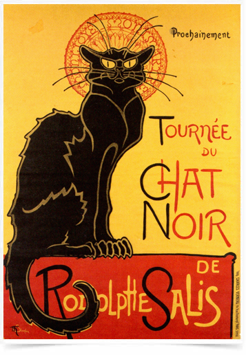 Poster Cinema Tournee du Chat Noir - Decor10