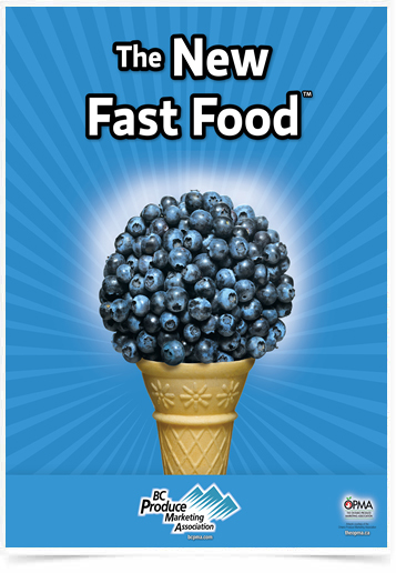 Poster Cozinha The New Fast Food Blueberry