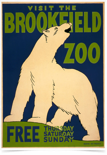 Poster Natureza Visit The Brookfield Zoo Free
