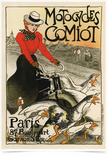 Poster The Belle Epoque Motocycles Comiot
