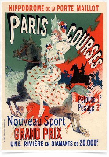 Poster The Belle Epoque Paris Courses