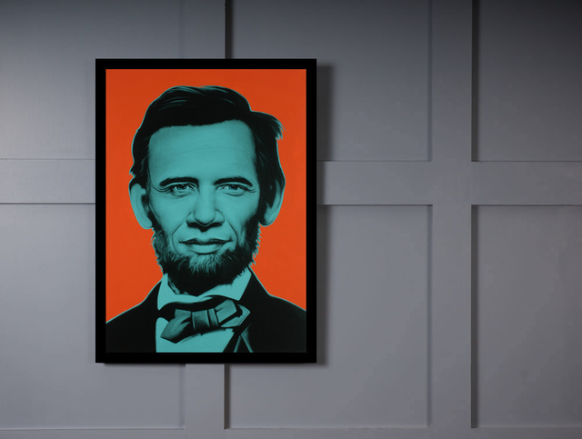Quadro Poster Art Digital Abraham Lincoln na internet