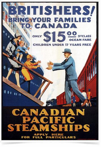 Poster Propaganda Canadian Pacific Steamships