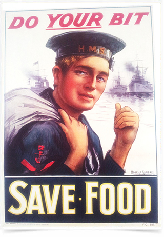 Poster Guerra Do Your Bit Save Food