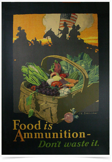 Poster Guerra Food Is Ammunition