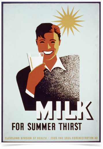 Poster Propaganda Bebidas Milk for Summer Thisrt