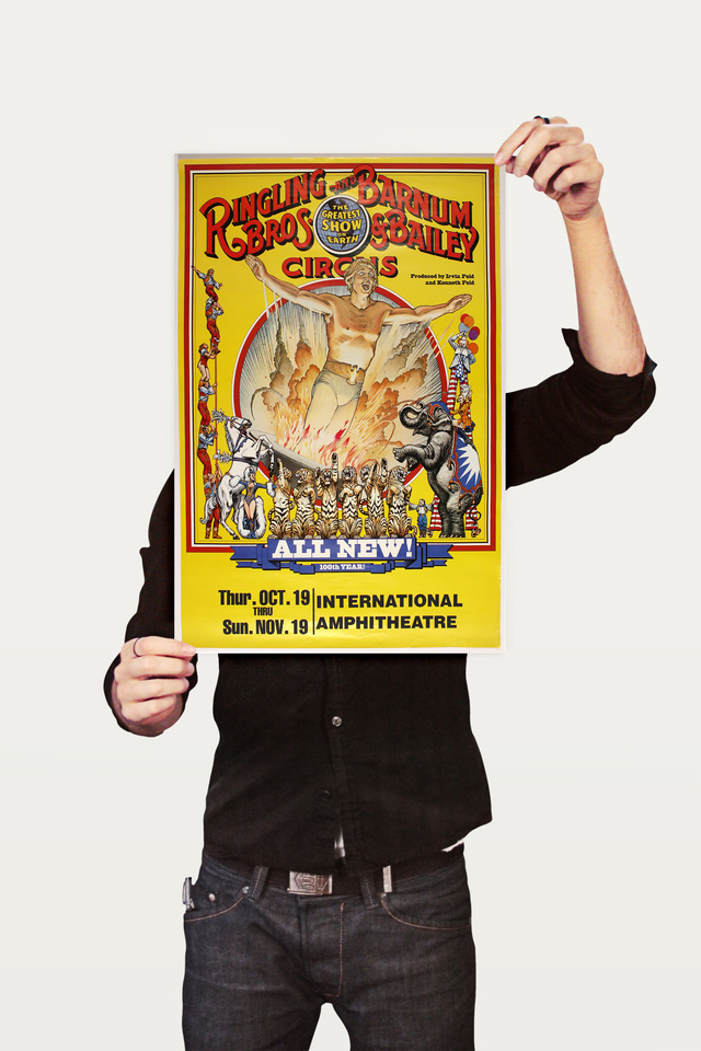 Poster Cinema Ringling Bros All New - Decor10