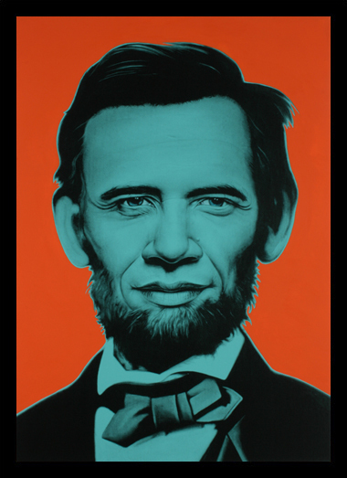 Quadro Poster Art Digital Abraham Lincoln