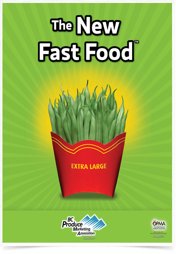 Poster Cozinha The New Fast Food String Bean