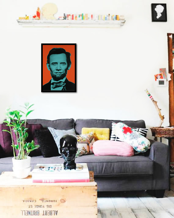 Quadro Poster Art Digital Abraham Lincoln - comprar online