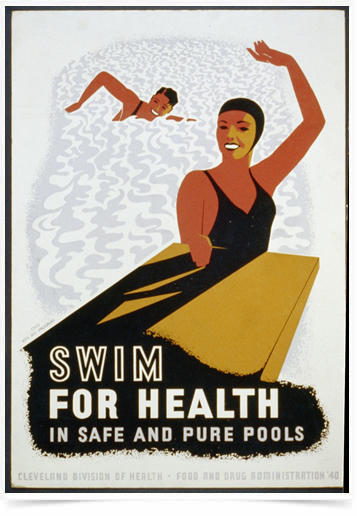 Poster Esportes Swim for Health