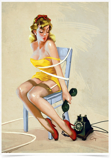 Poster Pinup Telefone