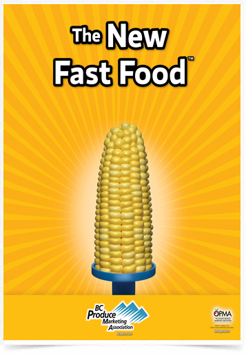 Poster Cozinha The New Fast Food Corn