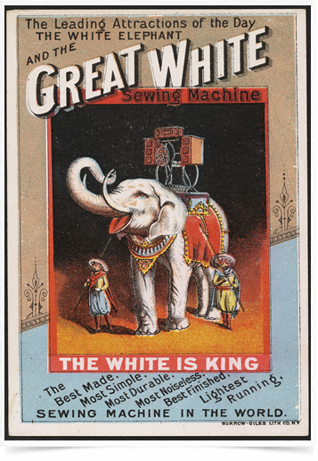 Poster Propaganda Great White Sewing Machine