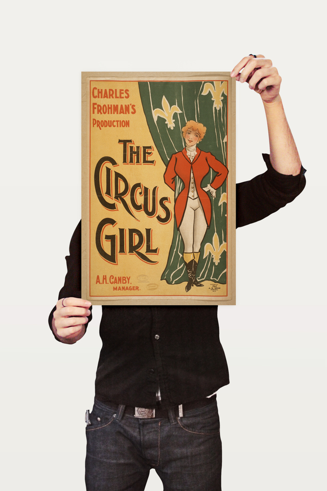 Poster Cinema The Circus Girl Frohmas - loja online