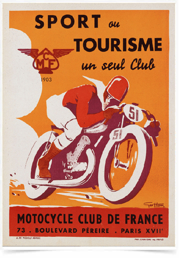 Poster Esportes Motocycle Club de France