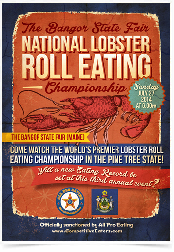 Poster Cozinha National Lobster Roll Eating