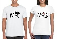 2 Playeras Disney Mickey Minnie Mr Y Mrs 100% Calidad