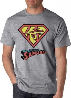 Playera Superman Logo Samurai En Japones De Coleccion