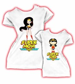 2 Playera Personalizadas Wonder Woman - Girl, Mama Maravilla