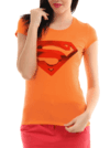 Playera blusa de logo Superchica