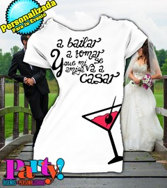 Playera Personalizada Despedida Soltera Wedding