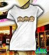 Playera o Camiseta 3 Monkey´s