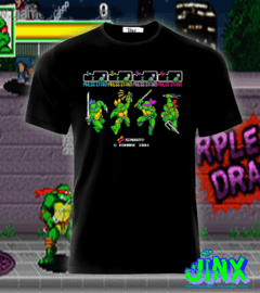 Playera o Camiseta Konami Turtles