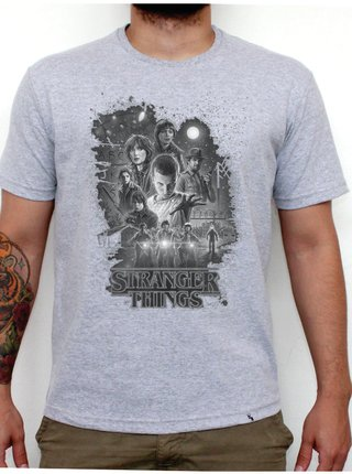 Camiseta Cinza Mescla - Stranger Things