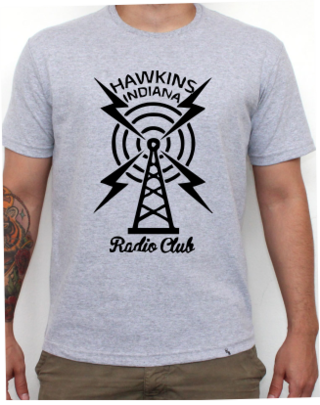 Camiseta Cinza Mescla - Stranger Things: Radio Club