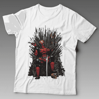 Camiseta Deadpool Trono de ferro Game of thrones
