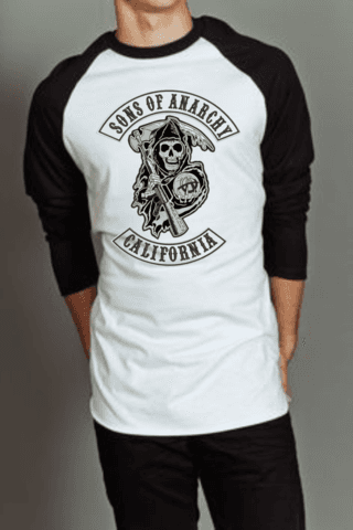 Camiseta Raglan Manga Longa Sons of Anarchy 3