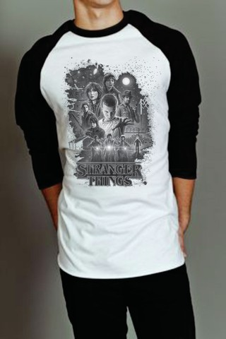 Camiseta Raglan Manga Longa - Stranger Things