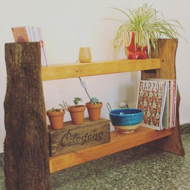 Mueble estantería madera roble - Decoración   Tienda Rancho Alegre