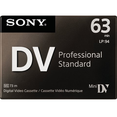 Cassette Mini DV SD Sony (63 min)