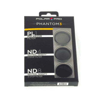 Kit de 3 Filtros Polar Pro PL1, ND4 y ND8 para DJI Phantom 3 en internet