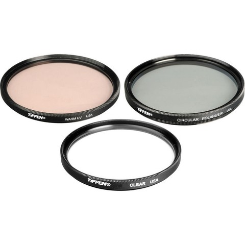 Kit de 3 Filtros Tiffen 77mm Video Essentials DV