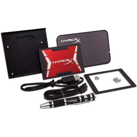 Unidad de Estado Sólido SSD Kingstone HyperX Savage 480GB Bundle Kit SHSS3B7A/480G