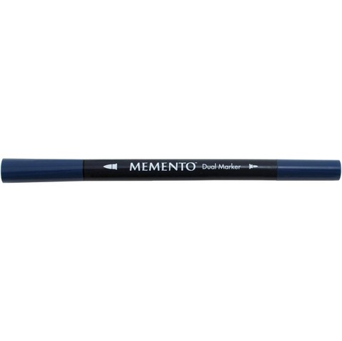 Marcador de tinta Memento Dual-Tip Marker Color Nautical Blue
