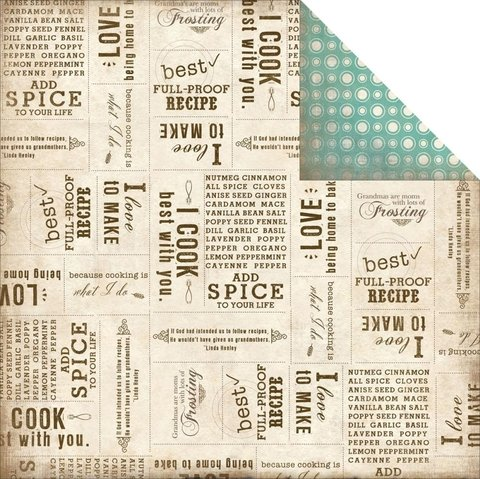 Papel bi-faz Baking Words 30,5 x 30,5 cm de 200 gr   - comprar online