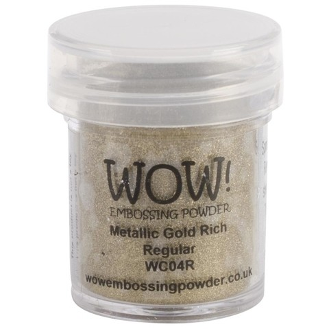 Polvo para embossing Dorado Metalizado Gold Rich Wow!