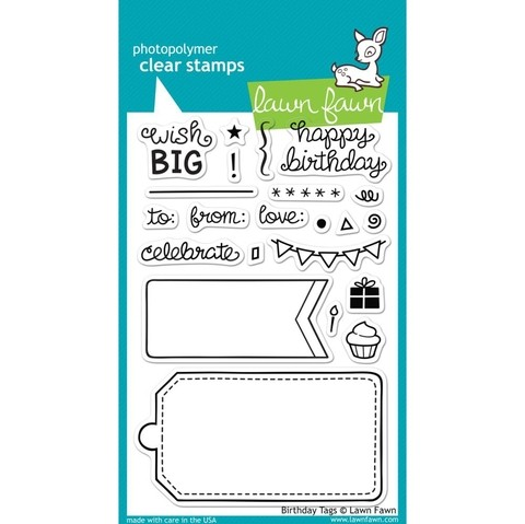 Sellos Birthday Tags Clear Stamp Lawn Fawn