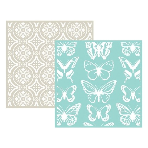 Set 2 Carpetas Texturizadoras Embossing Butterfly We R Memory Keepers - comprar online