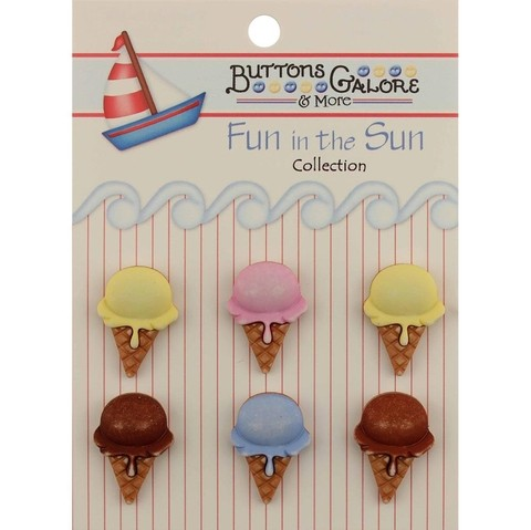 Botones decorativos Ice Cream Cones Button Galore - comprar online