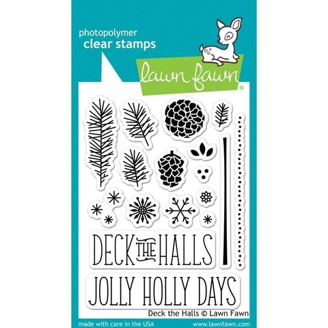 Sello Deck the Halls Lawn Fawn - comprar online