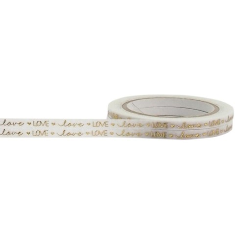 Cinta Decorativa Washi Tape Gold Love Little B 2 rollitos