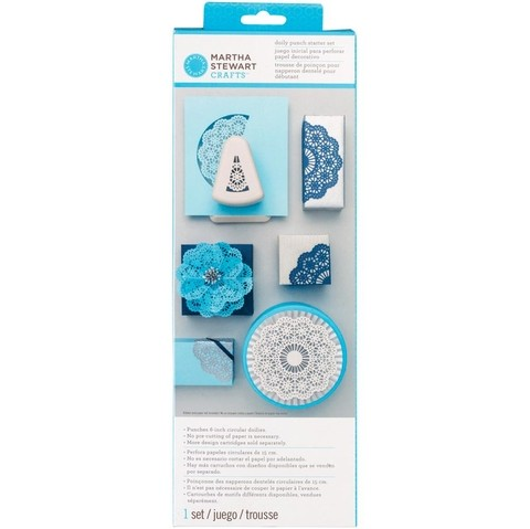 MARTHA STEWART DOILY PUNCH STARTER SET