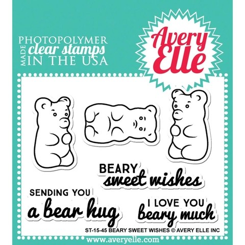 Sello de Ositos Beary Sweet Wishes Avery Elle - comprar online