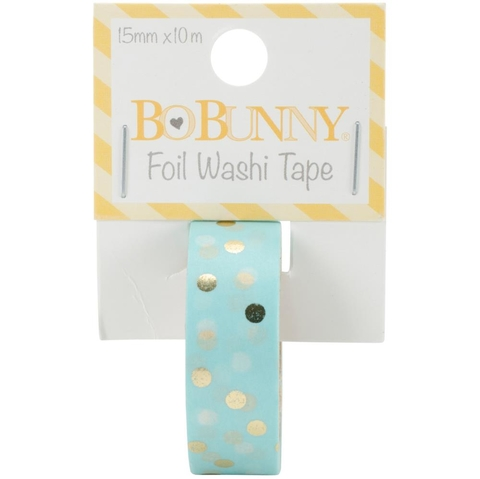 Cinta Decorativa Washi Tape Gold Foil Dot Bo Bunny - comprar online