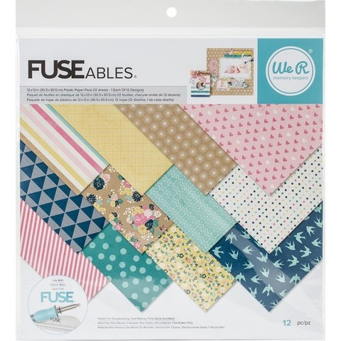 SET DE PAPELES FUSEABLES 30X30 CM WE R MEMORY KEEPERS - comprar online